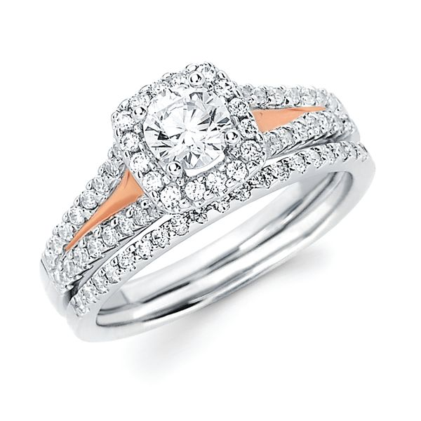 14k White & Rose Gold Bridal Set by Ostbye