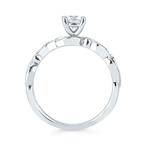 Engagement Rings - 14k White Gold Engagement Set - image 2