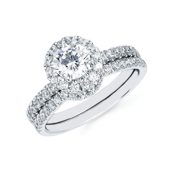 14k White Gold Engagement Set by Ostbye