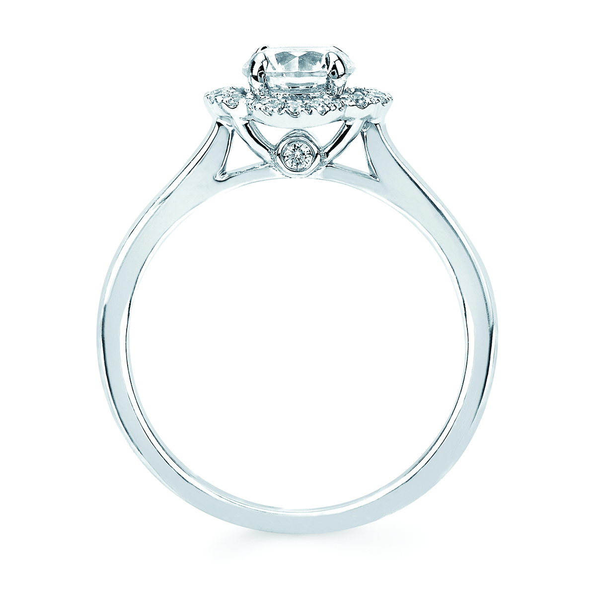 Engagement Rings - 14k White Gold Engagement Set - image 4