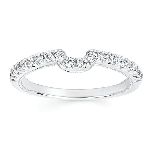 Engagement Rings - 14k White Gold Bridal Set - image #3