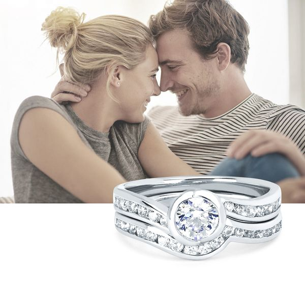 Sets - 14k White Gold Engagement Set - image #5