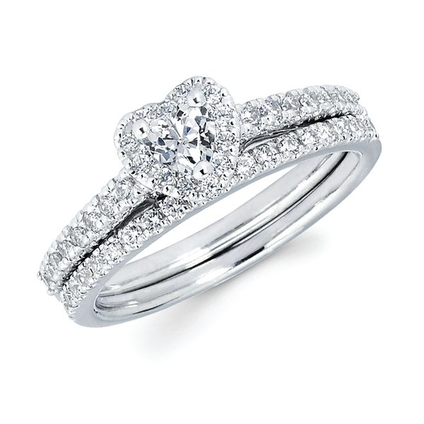 14k White Gold Engagement Set by Celebration