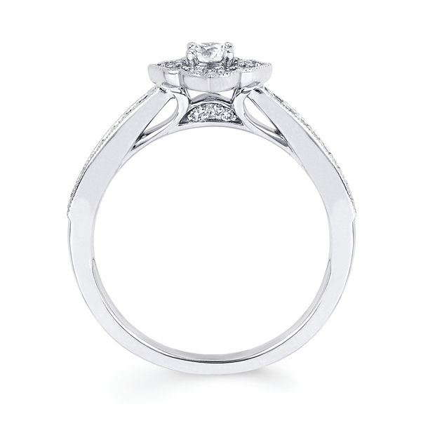 Bridal Sets - 10k White Gold Engagement Set - image #2