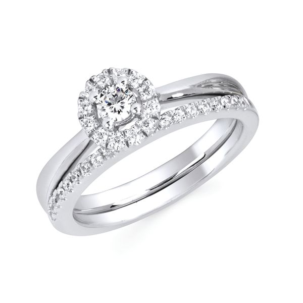10k White Gold Engagement Set by Celebration
