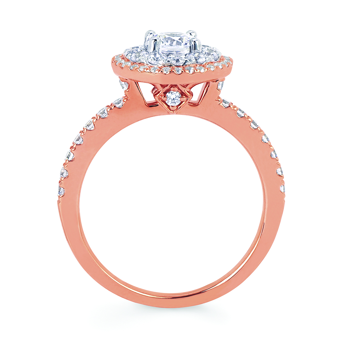 Sets - 14k White And Rose Gold Engagement Set - image #5