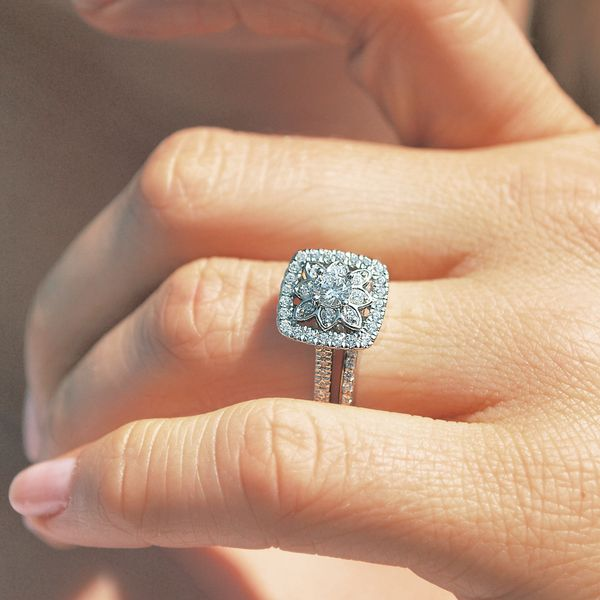 Bridal Sets - 14k White Gold Engagement Set - image 5
