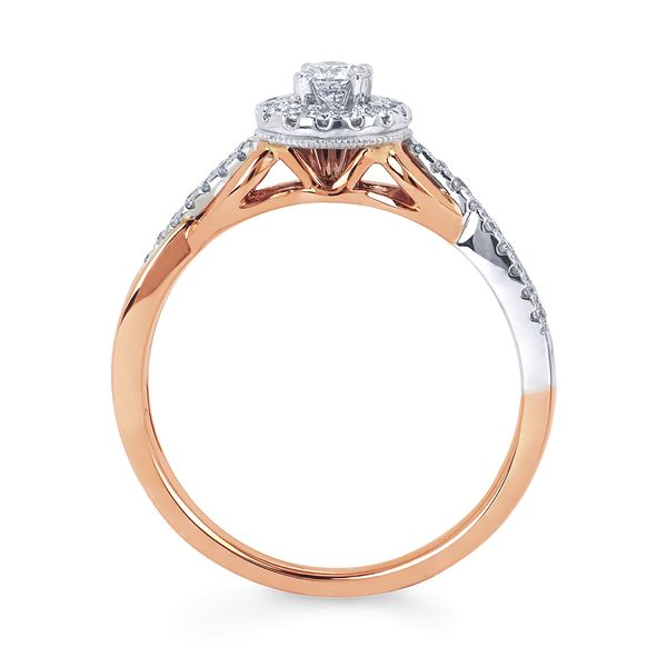Sets - 14k White And Rose Gold Engagement Set - image 2