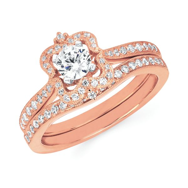 14k Rose Gold Engagement Set by Celebration