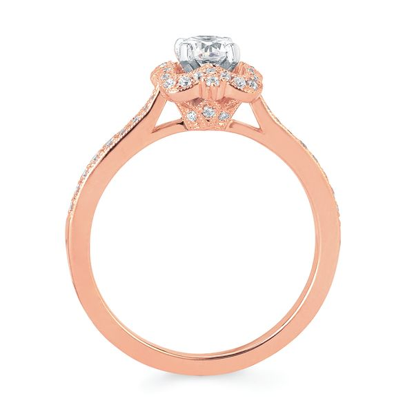 Bridal Sets - 14k Rose Gold Engagement Set - image #2