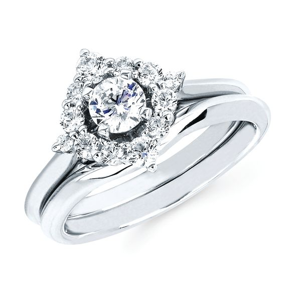 Sets - 14k White Gold Engagement Set