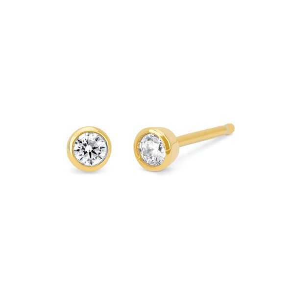Earrings - 10k Yellow Gold Diamond Earrings