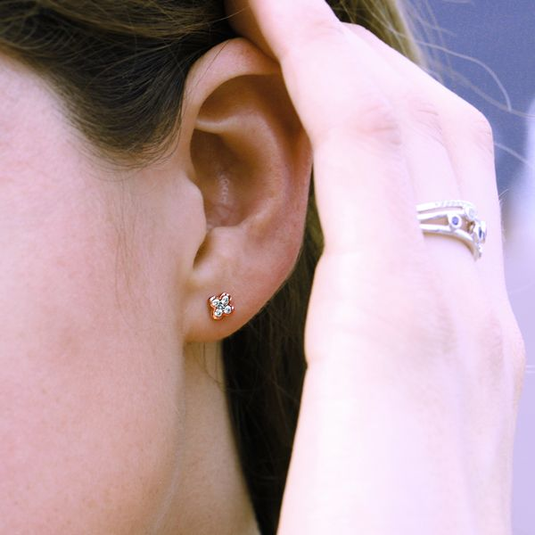 Earrings - 10k Rose Gold Earrings - image #3