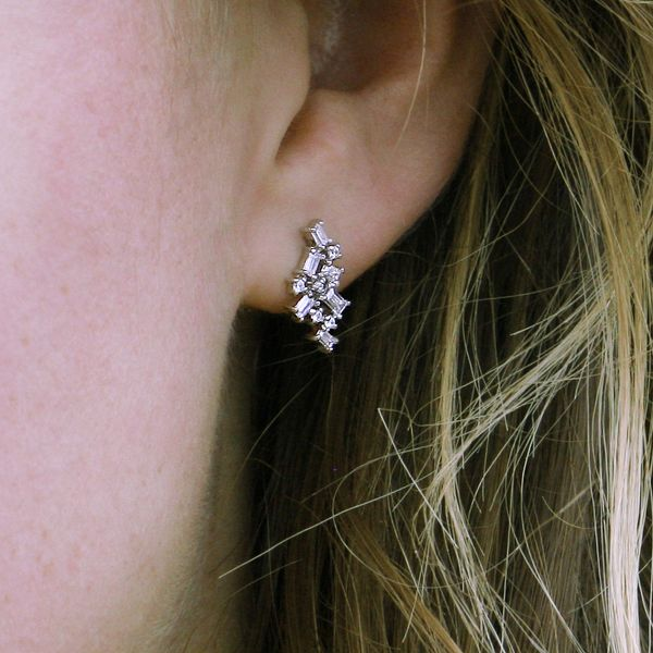 Earrings - 14k White Gold Earrings - image 2