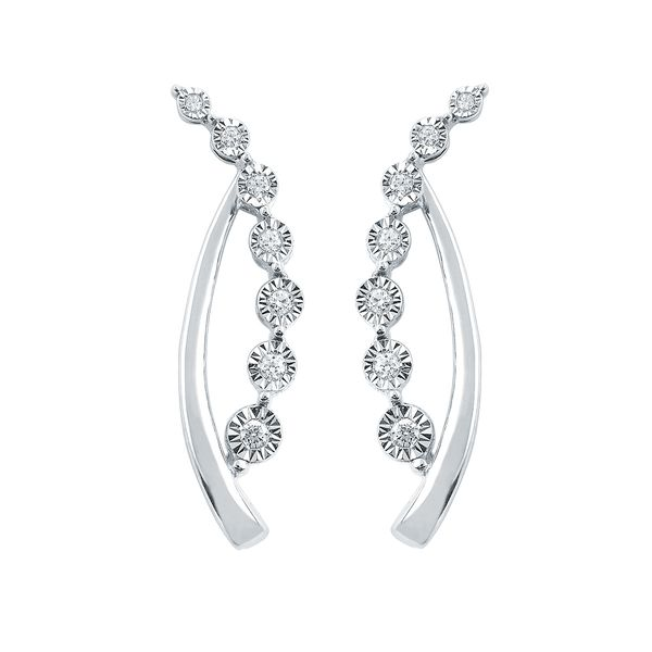 Earrings - 14k White Gold Earrings