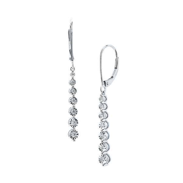 Earrings - 14k White Gold Diamond Earrings
