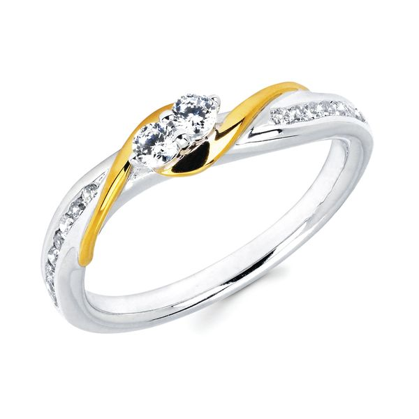 14k White And Yellow Gold Ring by 2Us Diamond Jewelry