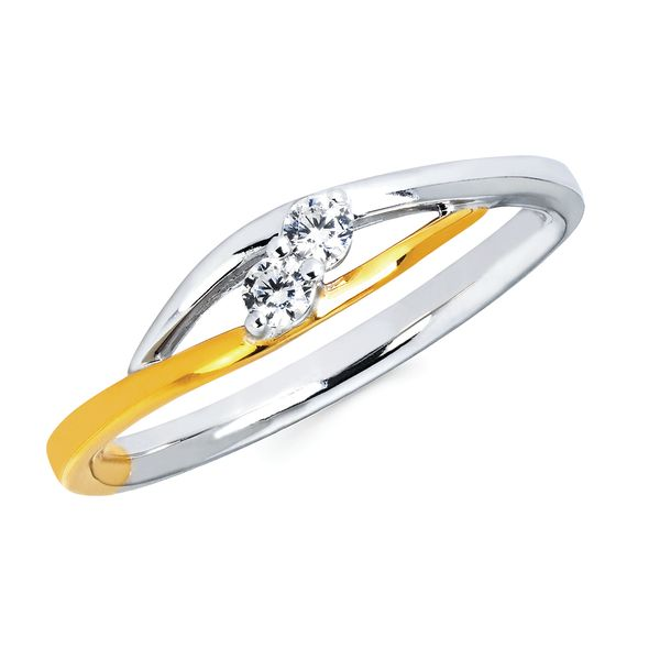 10k White And Yellow Gold Ring by 2Us Diamond Jewelry