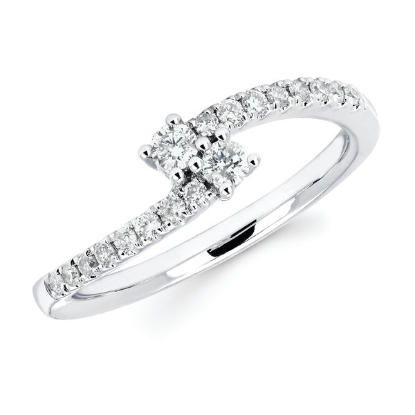 14K White Gold Ring by 2Us Diamond Jewelry