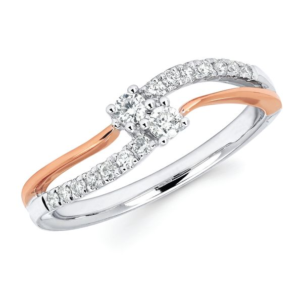 14k White And Rose Gold Ring by 2Us Diamond Jewelry