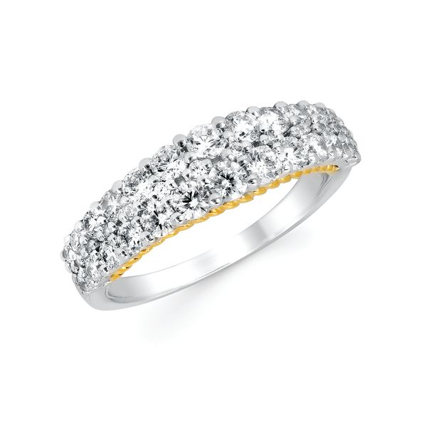 Wedding Bands - 14k White And Yellow Gold Ring