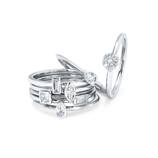 Wedding Bands - 14k White Gold Ring - image 2