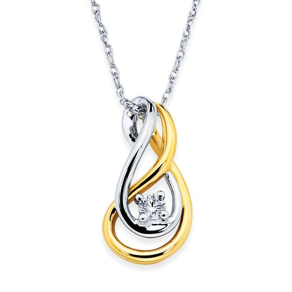14k White And Yellow Gold Pendant by Ostbye