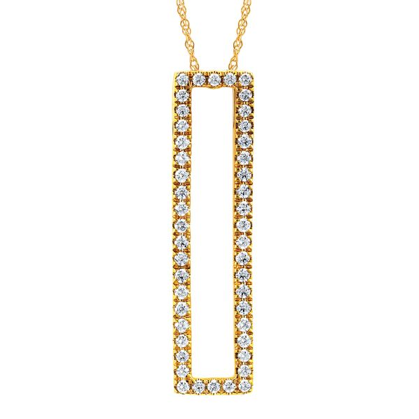 Pendants & Necklaces - 14k Yellow Gold Diamond Pendant