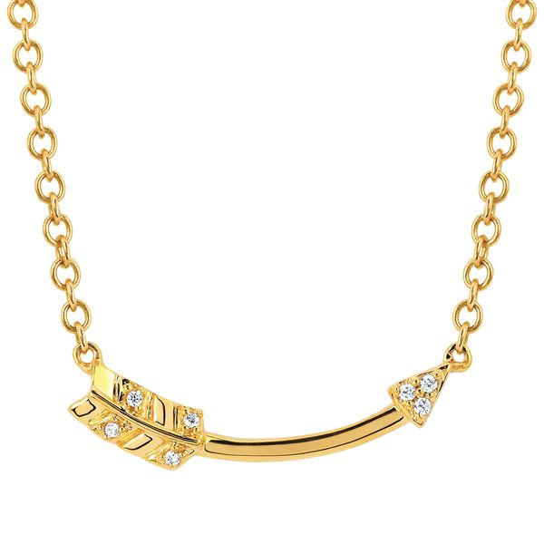 Pendants & Necklaces - 10k Yellow Gold Diamond Pendant