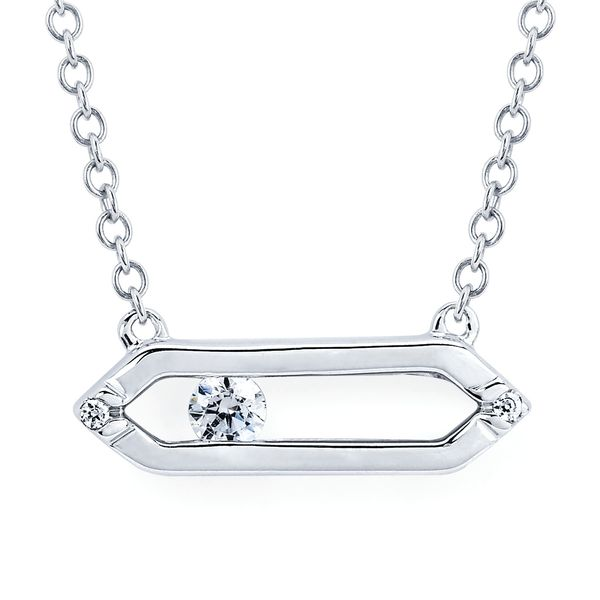 Diamond Pendants - 14k White Gold Pendant