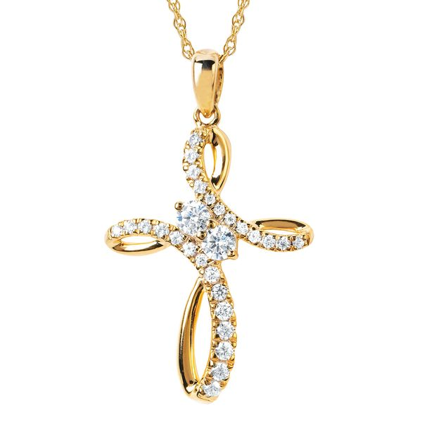 14K Yellow Gold Pendant by 2Us Diamond Jewelry