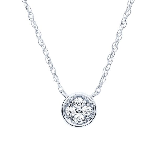 Pendants - 10k White Gold Diamond Pendant