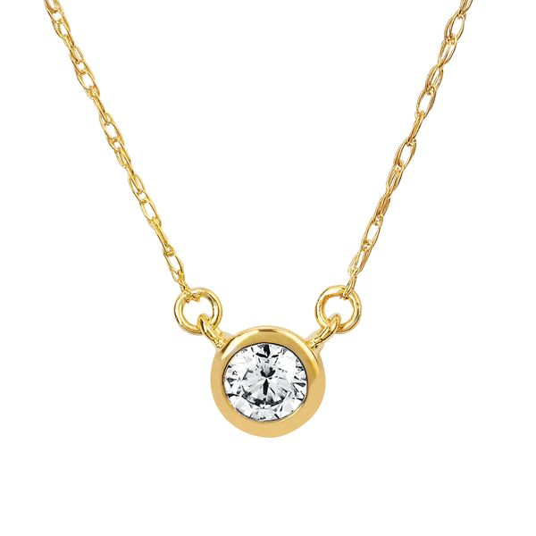 Diamond Pendants - 10k Yellow Gold Pendant