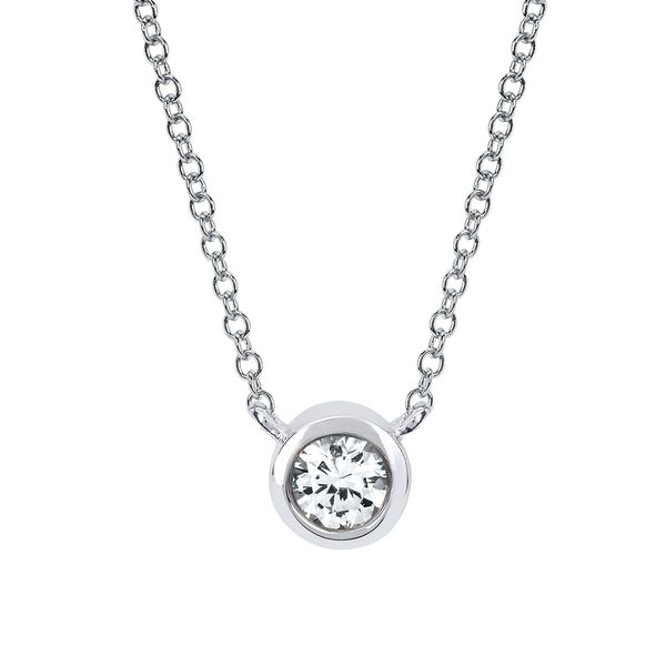 Diamond Pendants - 10k White Gold Pendant