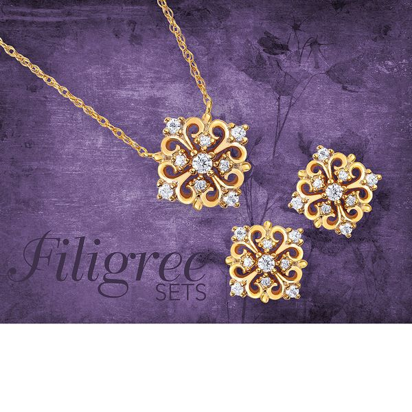 Pendants - 14k Yellow Gold Diamond Pendant - image #2