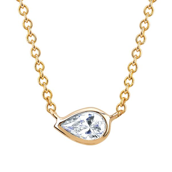 Diamond Pendants - 14k Yellow Gold Pendant