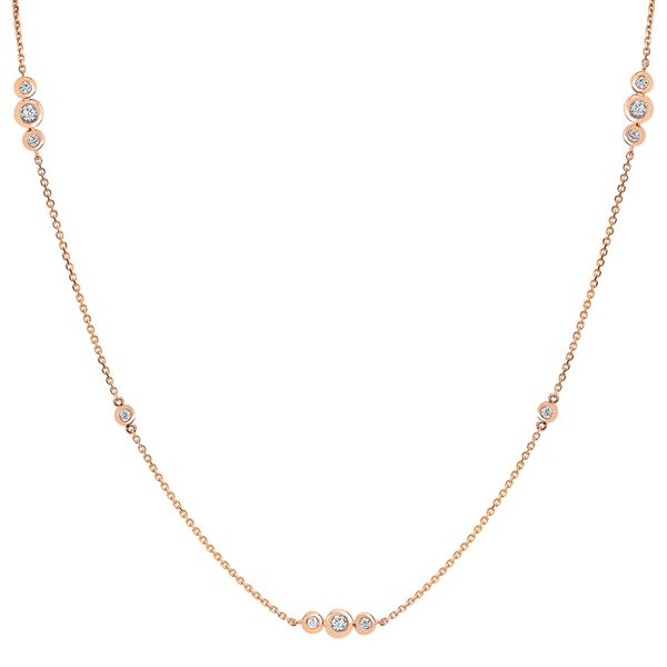 Diamond Pendants - 14k Rose Gold Pendant
