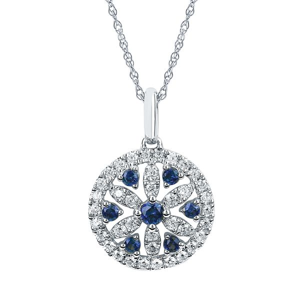 Pendants - 14k White Gold Gemstone Pendant