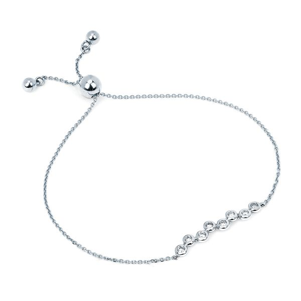 Bracelets - 14k White Gold Diamond Bracelet
