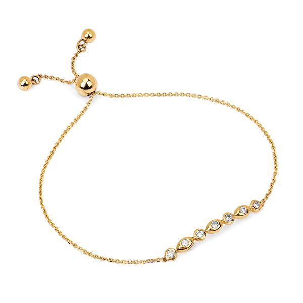Bracelets - 14k Yellow Gold Diamond Bracelet