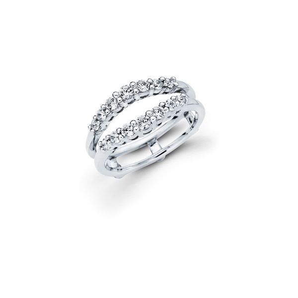 14K White Gold Wrap Ring - 1/2 Ctw. Diamond Wrap in 14K Gold