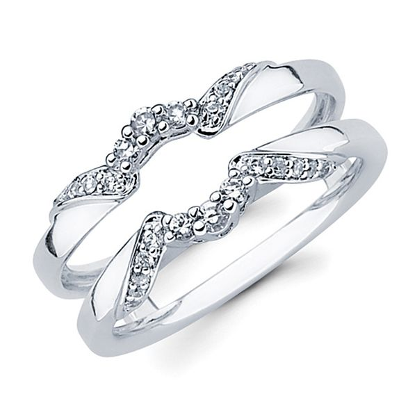 14k White Gold Wrap - 1/5 Ctw. Diamond Wrap in 14K Gold