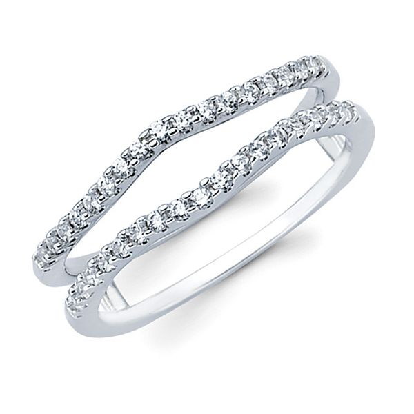 14K White Gold Ring - 1/4 Ctw. Diamond Contour Bridal Insert in 14K Gold