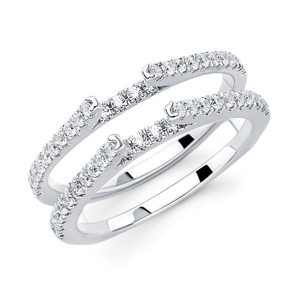14K White Gold Ring - 1/2 Ctw. Diamond Bridal Insert in 14K Gold