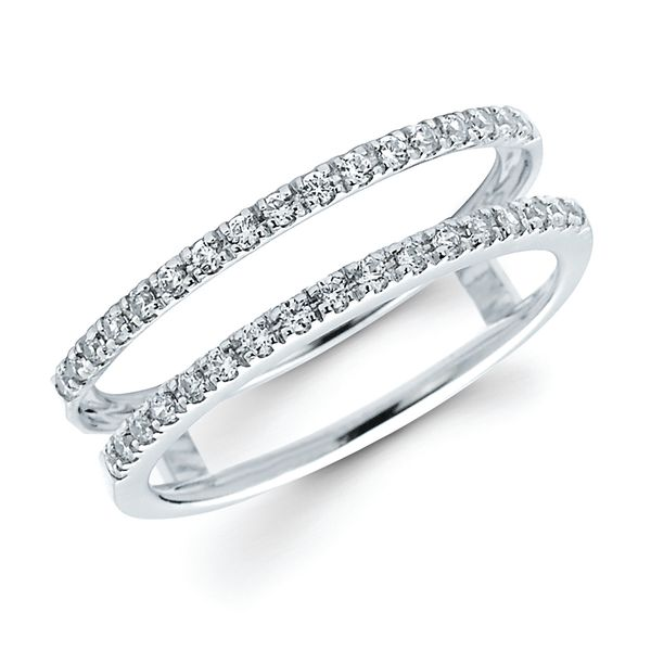 14K White Gold Wrap Ring OW16A044WC Rings from Montica Jewelry