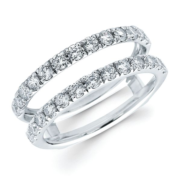 14K White Gold Wrap Ring - 1 Ctw. Diamond Bridal Insert in 14K Gold