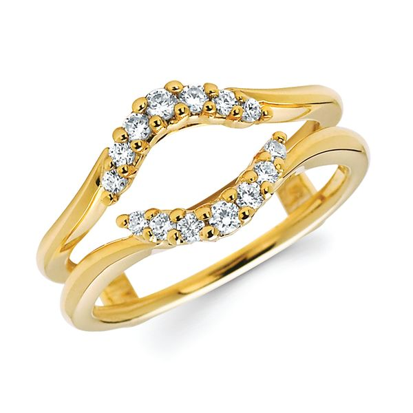 14K Yellow Gold Wrap Ring - 1/4 Ctw. Diamond Bridal Insert in 14K Gold