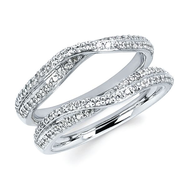 14K White Gold Wrap Ring - 1/2 Ctw. Diamond  Bridal Insert in 14K Gold