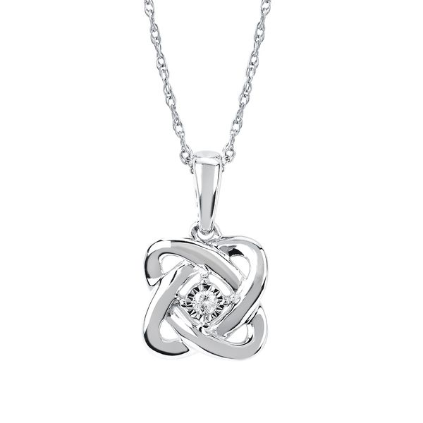 Sterling Silver Pendant - 0.02Ctw. Diamond Pendant in Sterling Silver