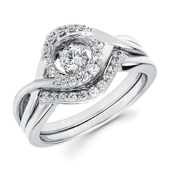 14k White Gold Wedding Band by Shimmering Diamonds